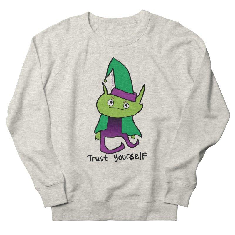 Trust Your elf Men's French Terry Sweatshirt by Jon Burgerman's Artist Shop