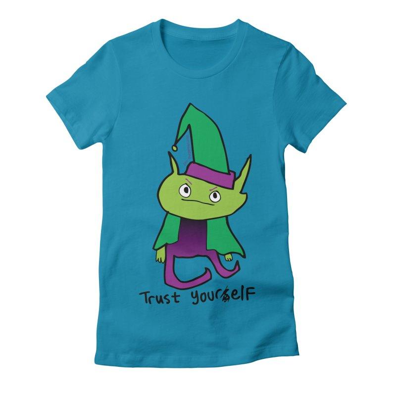 Trust Your elf Women's Fitted T-Shirt by Jon Burgerman's Artist Shop