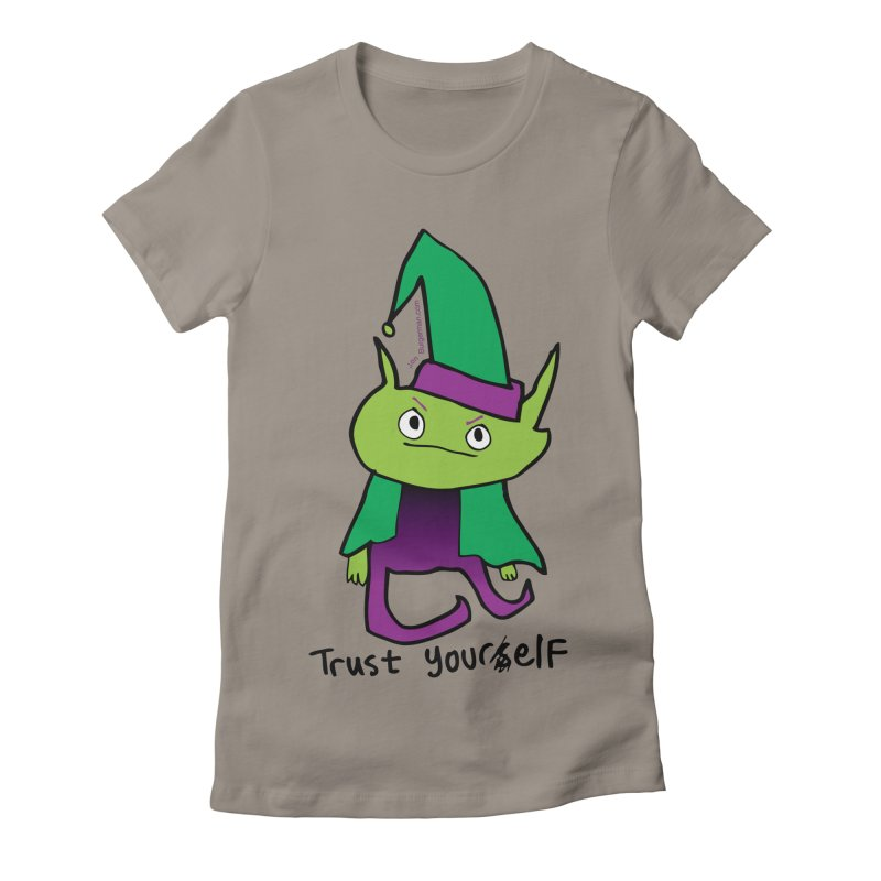 Trust Your elf Women's Fitted T-Shirt by Jon Burgerman's Artist Shop