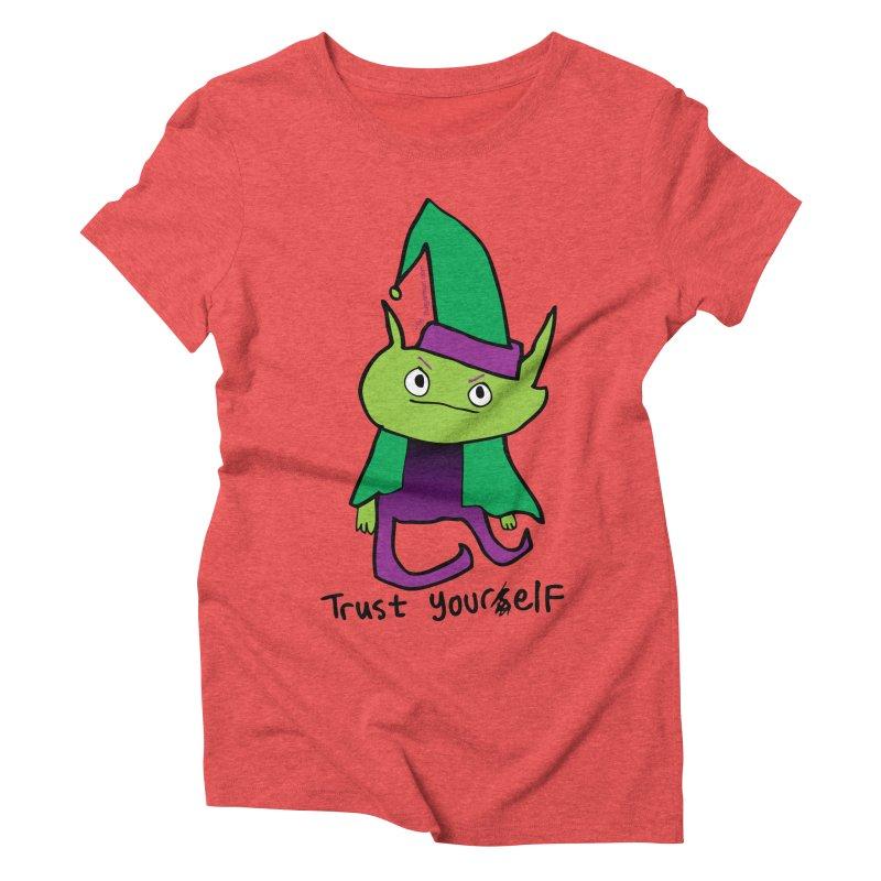 Trust Your elf Women's Triblend T-Shirt by Jon Burgerman's Artist Shop
