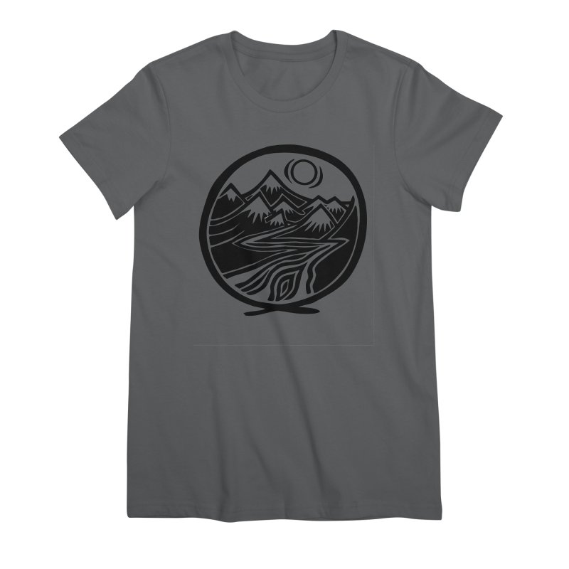 Natural Calming - Black Print Women's Premium T-Shirt by jon cooney's print shop