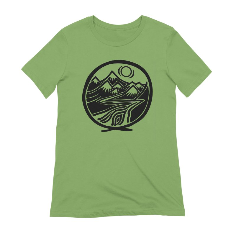 Natural Calming - Black Print Women's Extra Soft T-Shirt by jon cooney's print shop