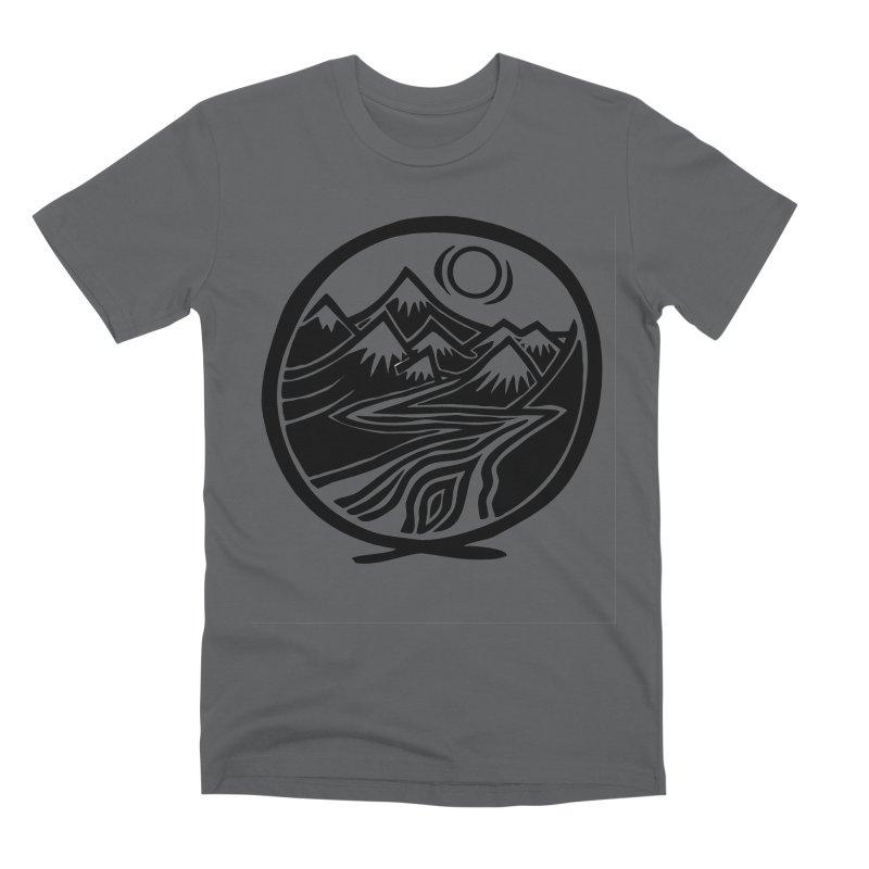 Natural Calming - Black Print Men's Premium T-Shirt by jon cooney's print shop