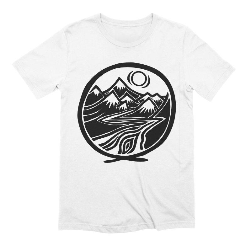 Natural Calming - Black Print Men's Extra Soft T-Shirt by jon cooney's print shop