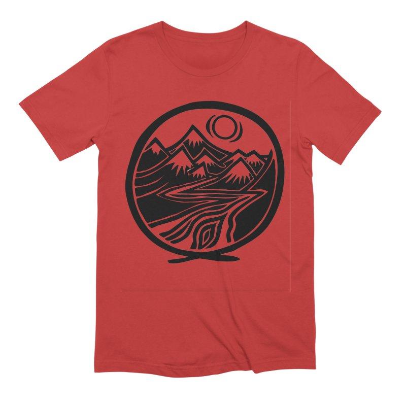 Natural Calming - Black Print Men's T-Shirt by jon cooney's print shop