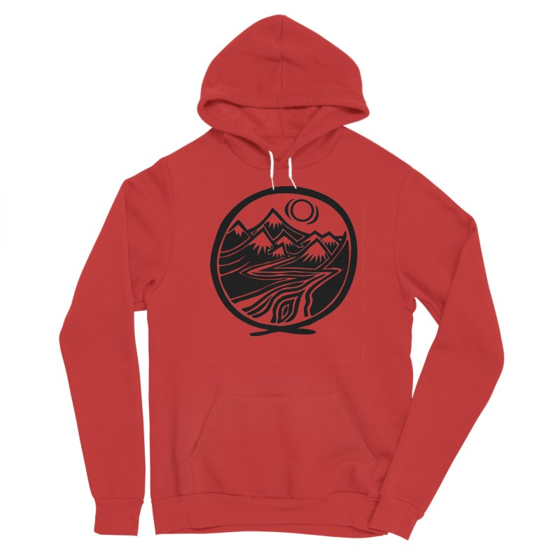 Natural Calming - Black Print Women's Pullover Hoody by jon cooney's print shop