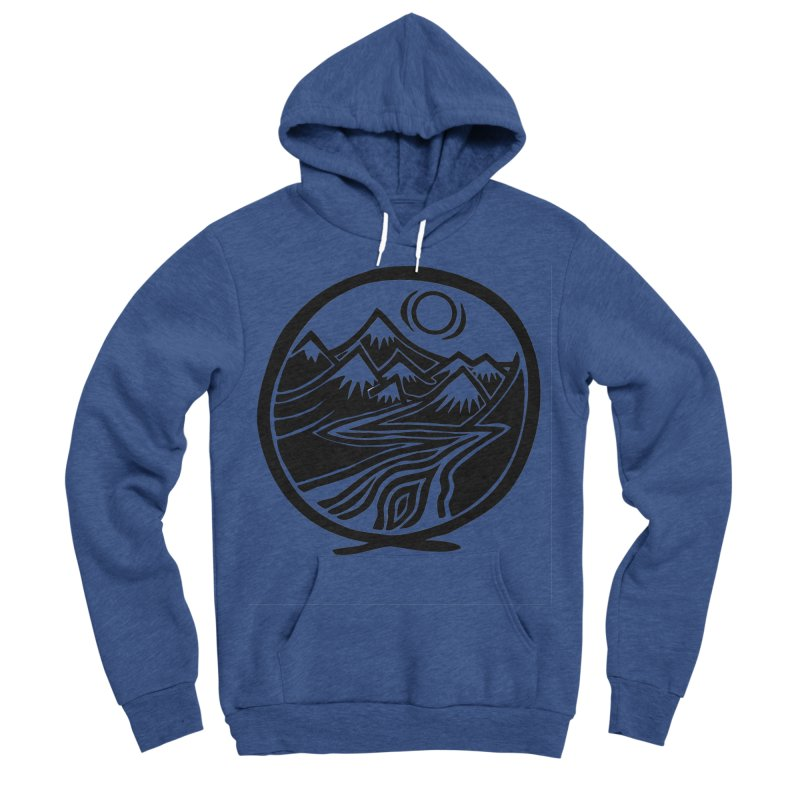 Natural Calming - Black Print Women's Sponge Fleece Pullover Hoody by jon cooney's print shop