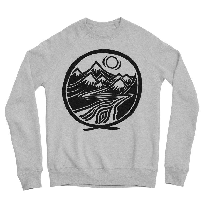 Natural Calming - Black Print Men's Sweatshirt by jon cooney's print shop