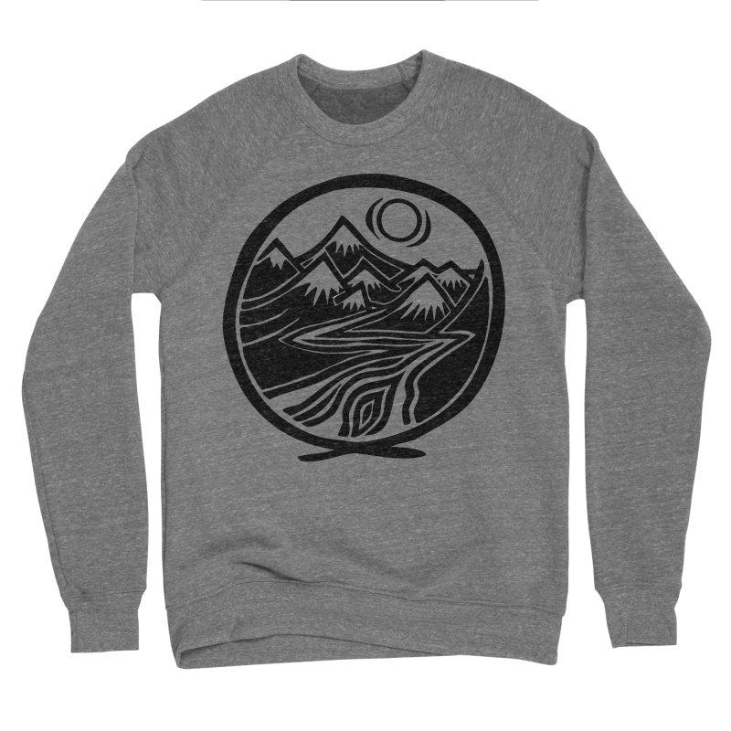 Natural Calming - Black Print Men's Sponge Fleece Sweatshirt by jon cooney's print shop