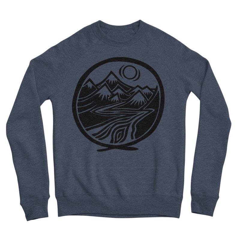 Natural Calming - Black Print Women's Sponge Fleece Sweatshirt by jon cooney's print shop