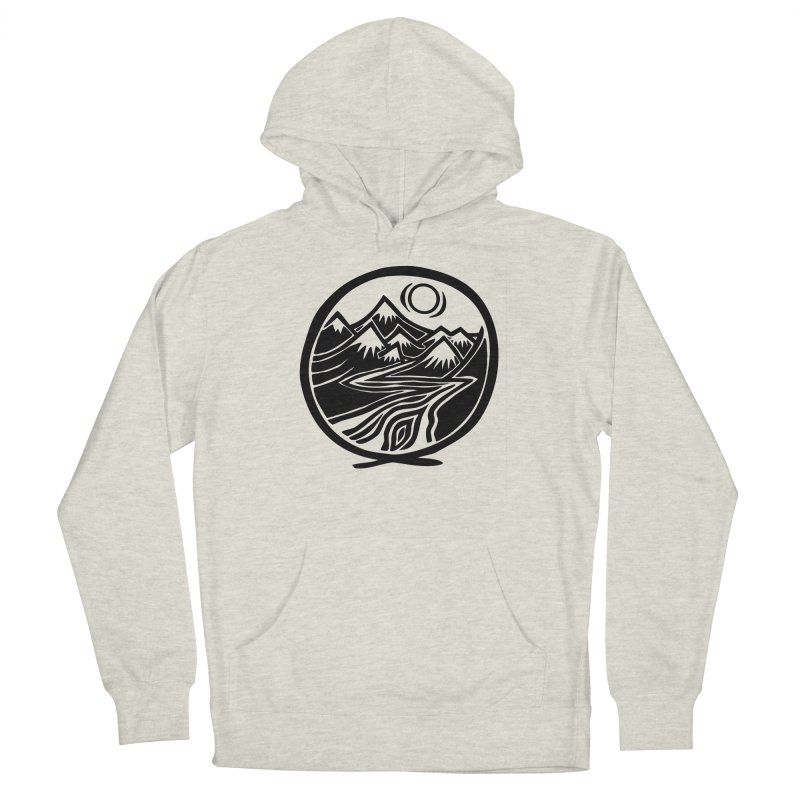 Natural Calming - Black Print Men's Pullover Hoody by jon cooney's print shop