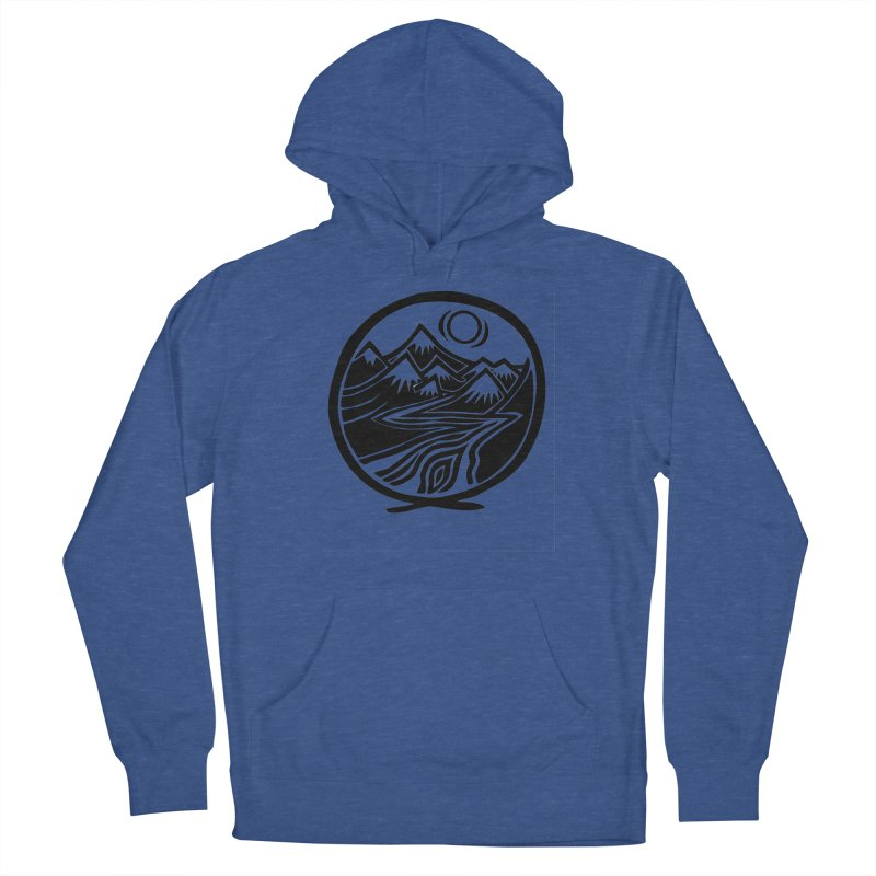 Natural Calming - Black Print Men's Pullover Hoody by jon cooney's print shop