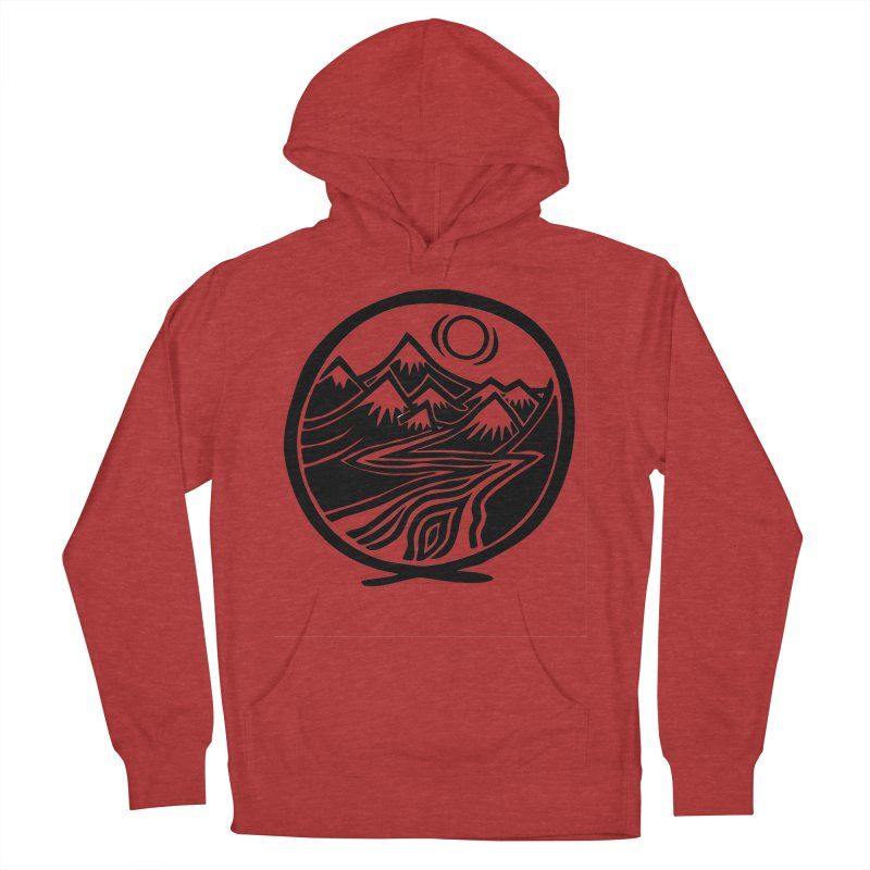 Natural Calming - Black Print Women's French Terry Pullover Hoody by jon cooney's print shop