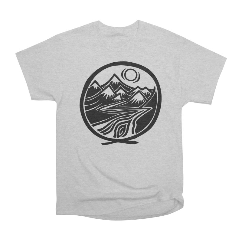 Natural Calming - Black Print Men's Heavyweight T-Shirt by jon cooney's print shop