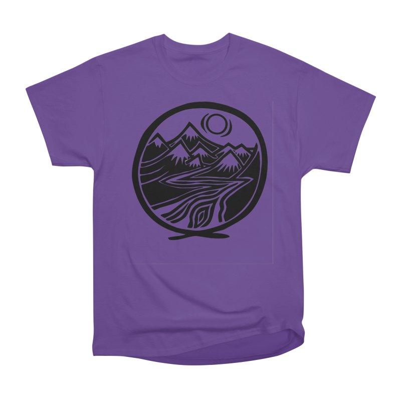 Natural Calming - Black Print Men's Heavyweight T-Shirt by jon cooney's print shop