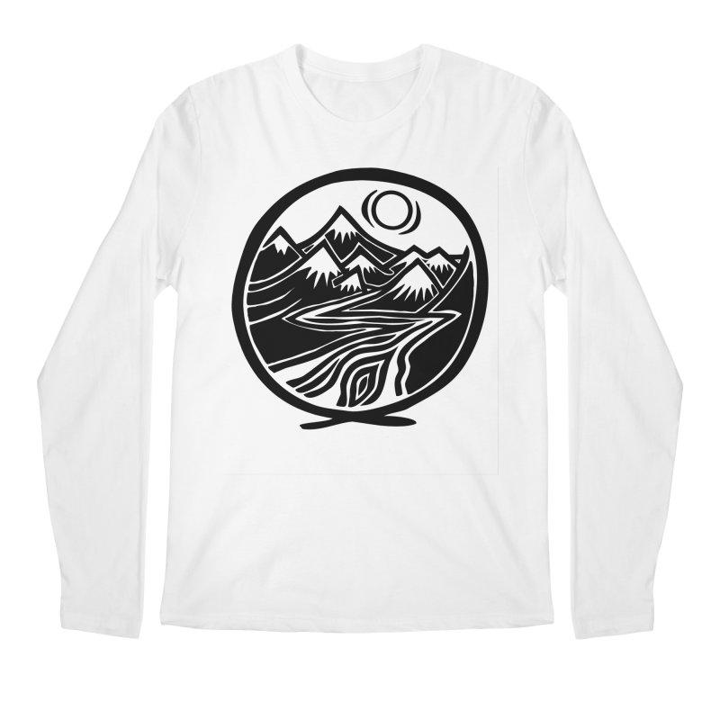 Natural Calming - Black Print Men's Regular Longsleeve T-Shirt by jon cooney's print shop