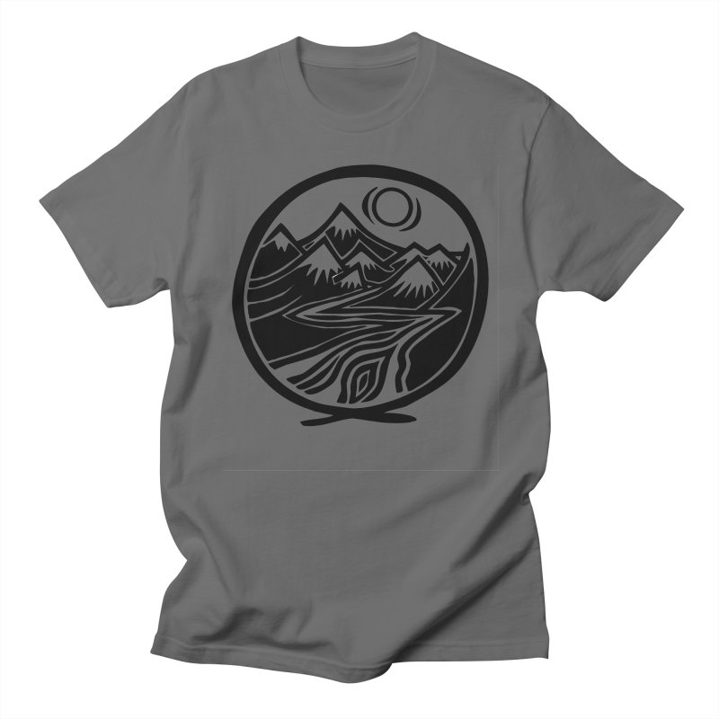 Natural Calming - Black Print Men's T-Shirt by jon cooney's print shop