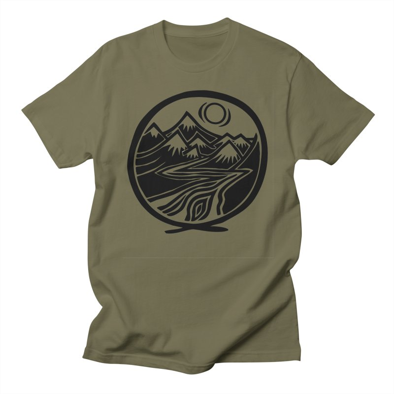 Natural Calming - Black Print Women's Regular Unisex T-Shirt by jon cooney's print shop