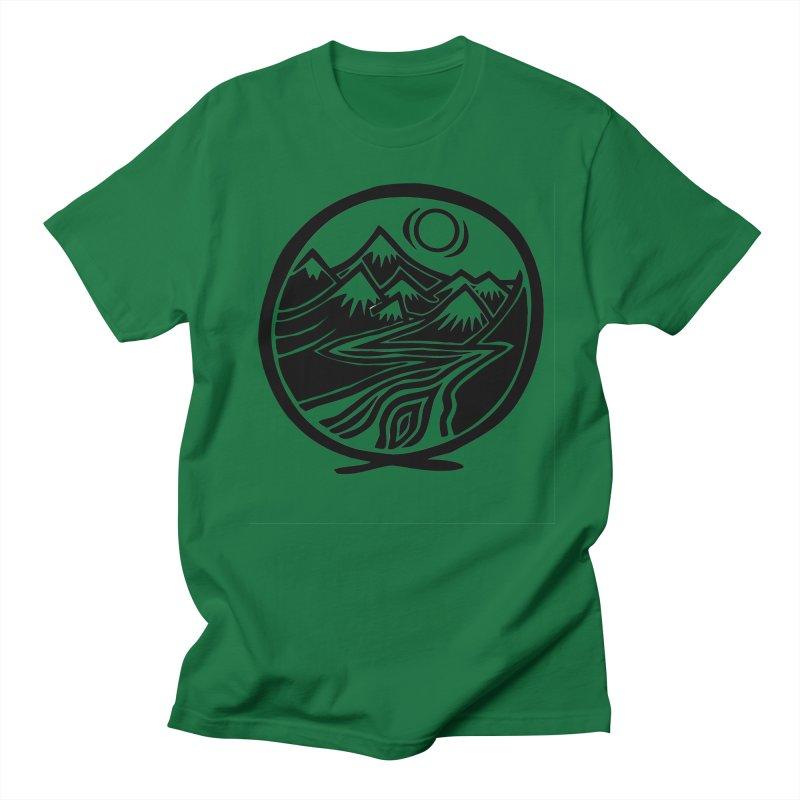 Natural Calming - Black Print Men's Regular T-Shirt by jon cooney's print shop