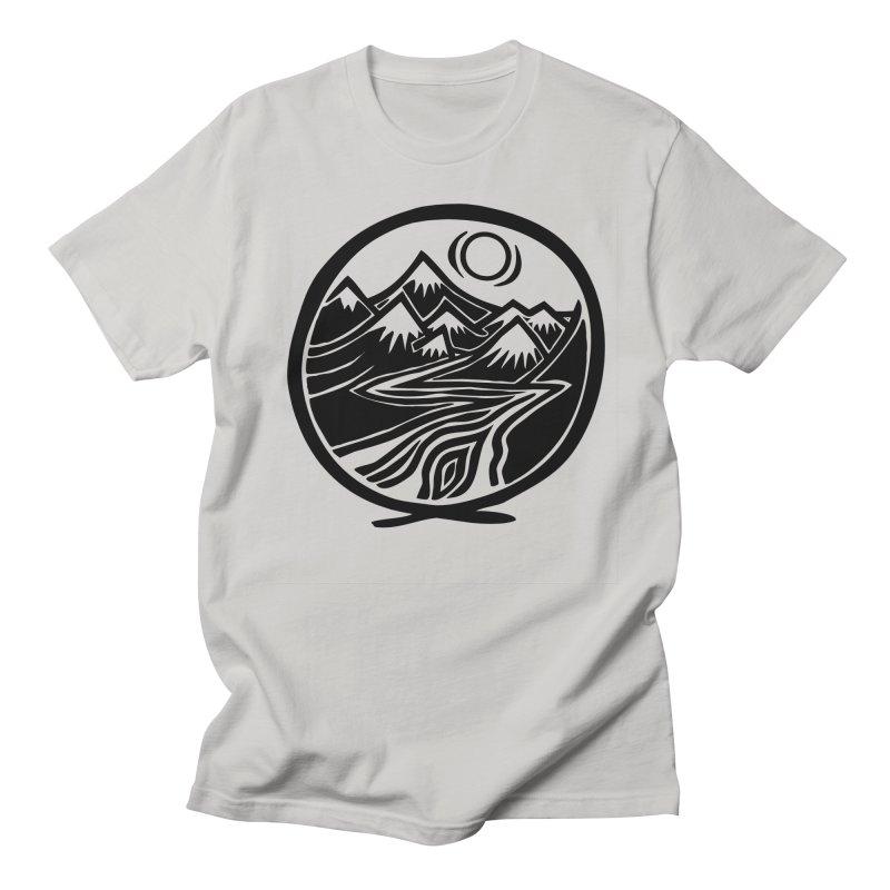 Natural Calming - Black Print Women's Regular Unisex T-Shirt by jon cooney's print shop