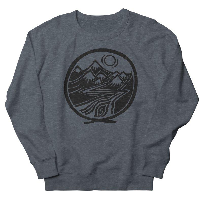 Natural Calming - Black Print Women's French Terry Sweatshirt by jon cooney's print shop