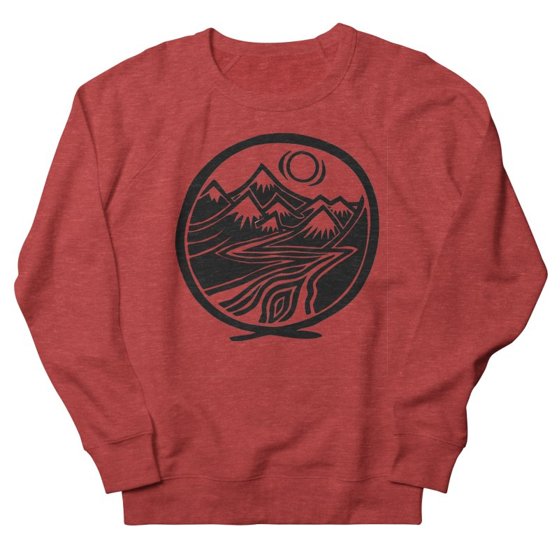 Natural Calming - Black Print Women's French Terry Sweatshirt by jon cooney's print shop