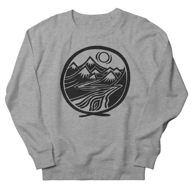 Natural Calming - Black Print Men's French Terry Sweatshirt by jon cooney's print shop