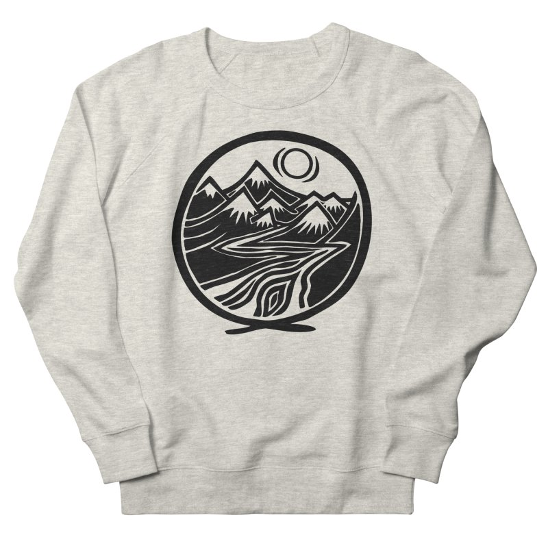 Natural Calming - Black Print Men's French Terry Sweatshirt by jon cooney's print shop