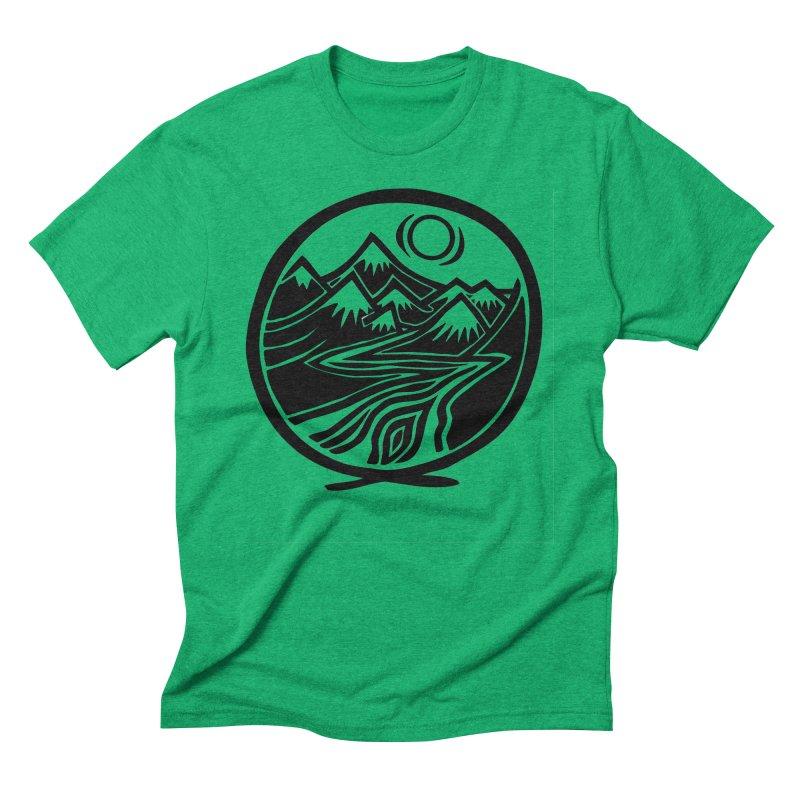 Natural Calming - Black Print Men's Triblend T-Shirt by jon cooney's print shop