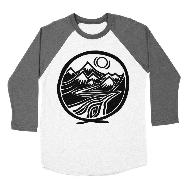 Natural Calming - Black Print Women's Baseball Triblend Longsleeve T-Shirt by jon cooney's print shop
