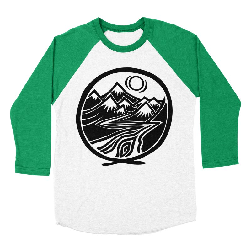 Natural Calming - Black Print Women's Baseball Triblend Longsleeve T-Shirt by jon cooney's print shop