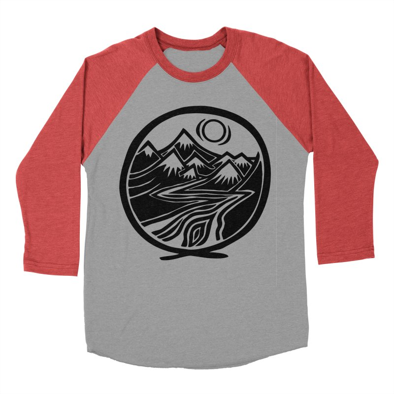 Natural Calming - Black Print Men's Baseball Triblend Longsleeve T-Shirt by jon cooney's print shop