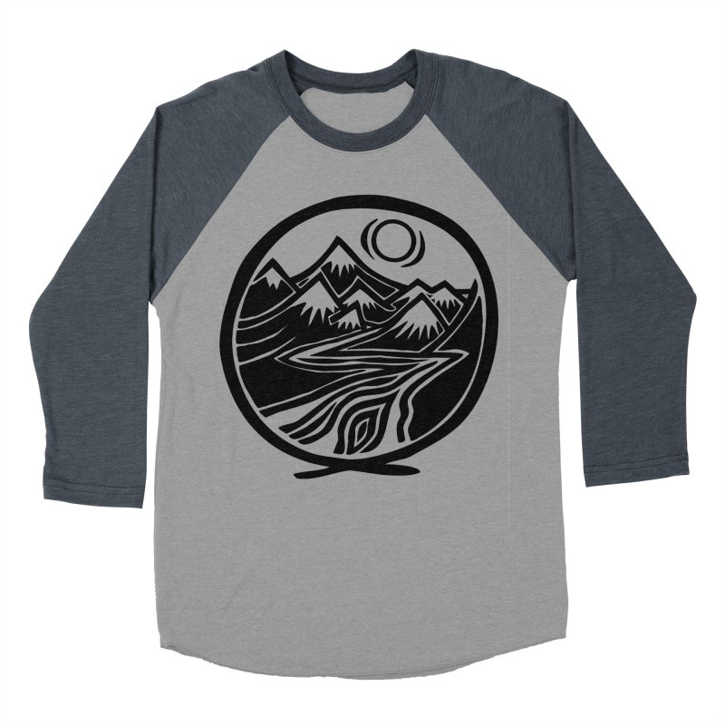 Natural Calming - Black Print Men's Baseball Triblend Longsleeve T-Shirt by jon cooney's print shop