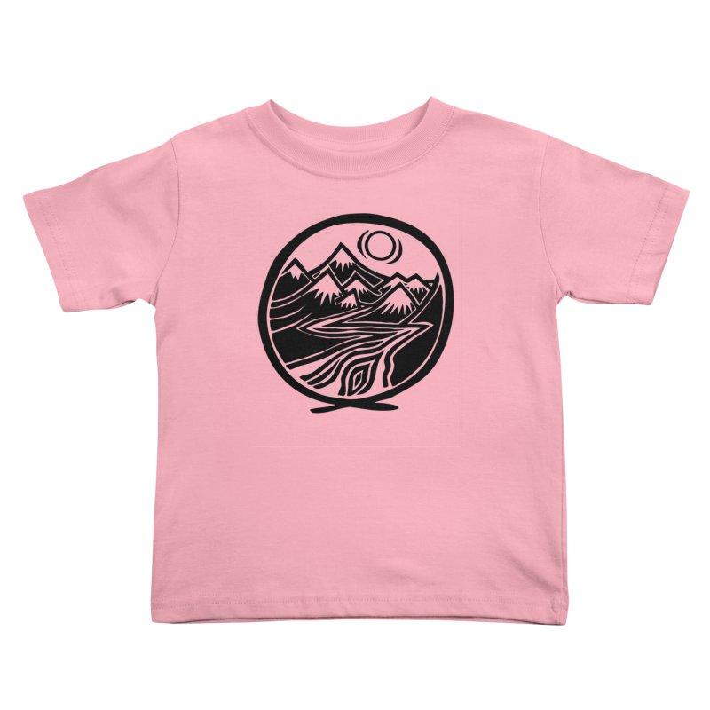 Natural Calming - Black Print Kids Toddler T-Shirt by jon cooney's print shop