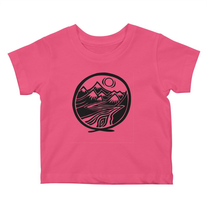 Natural Calming - Black Print Kids Baby T-Shirt by jon cooney's print shop