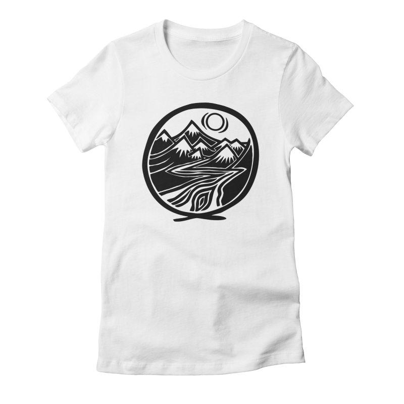Natural Calming - Black Print Women's T-Shirt by jon cooney's print shop