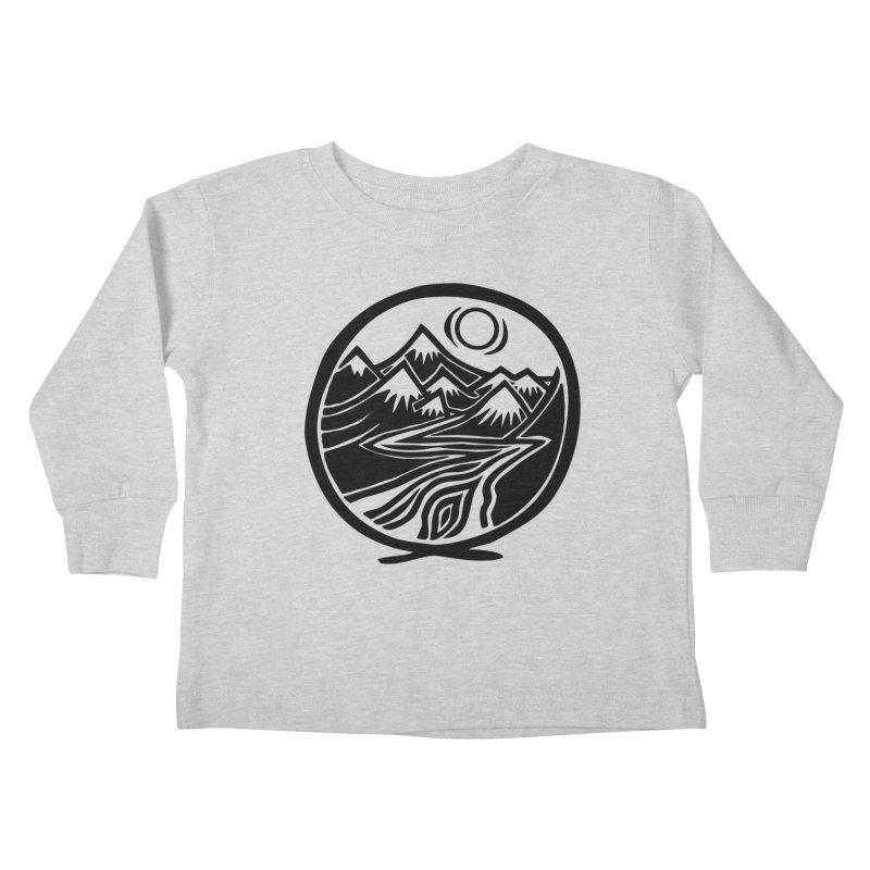 Natural Calming - Black Print Kids Toddler Longsleeve T-Shirt by jon cooney's print shop