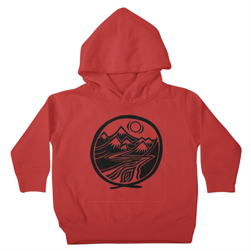 Natural Calming - Black Print Kids Toddler Pullover Hoody by jon cooney's print shop