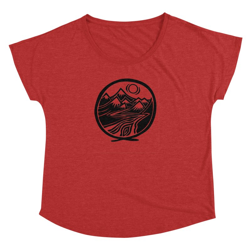 Natural Calming - Black Print Women's Dolman Scoop Neck by jon cooney's print shop