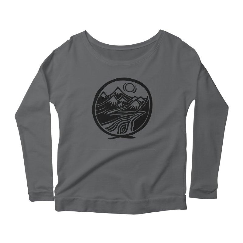 Natural Calming - Black Print Women's Longsleeve T-Shirt by jon cooney's print shop