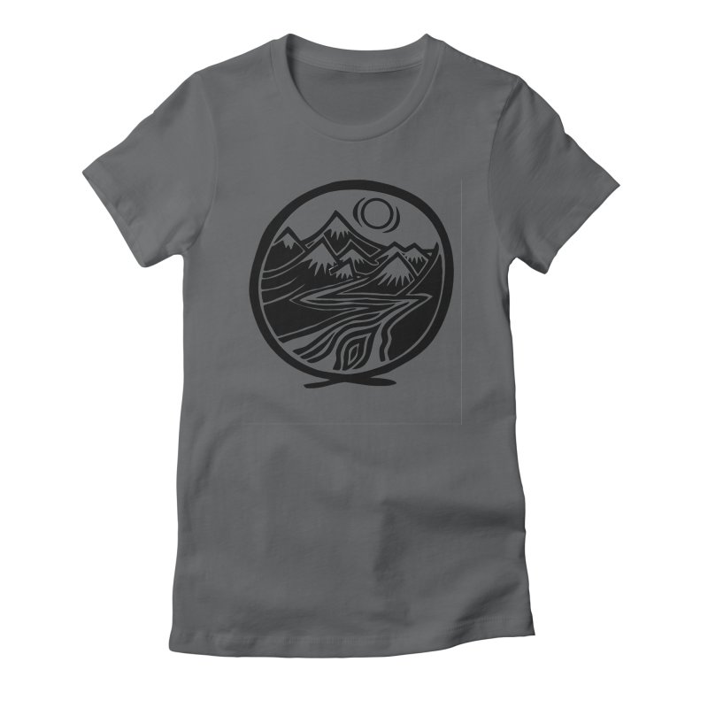 Natural Calming - Black Print Women's Fitted T-Shirt by jon cooney's print shop
