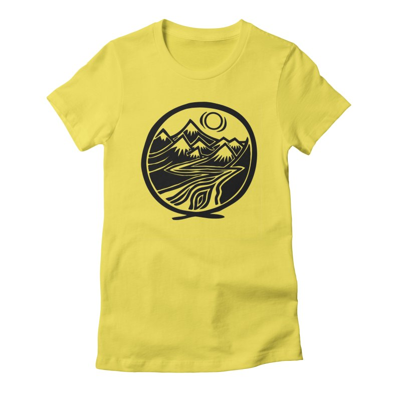 Natural Calming - Black Print Women's T-Shirt by jon cooney's print shop