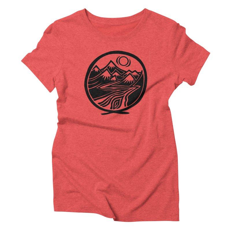 Natural Calming - Black Print Women's Triblend T-Shirt by jon cooney's print shop