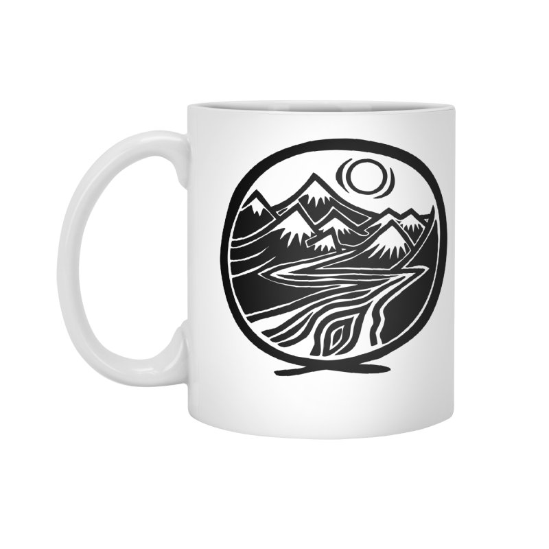 Natural Calming - Black Print Accessories Standard Mug by jon cooney's print shop