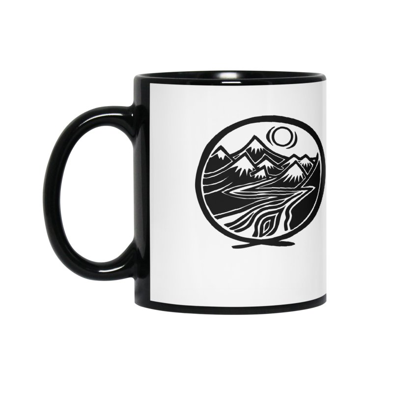 Natural Calming - Black Print Accessories Mug by jon cooney's print shop