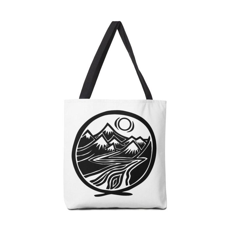 Natural Calming - Black Print Accessories Bag by jon cooney's print shop
