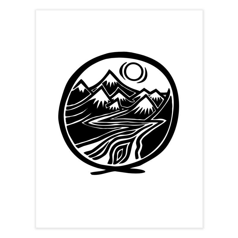 Natural Calming - Black Print Home Fine Art Print by jon cooney's print shop