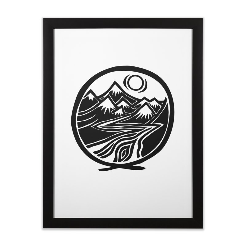 Natural Calming - Black Print Home Framed Fine Art Print by jon cooney's print shop