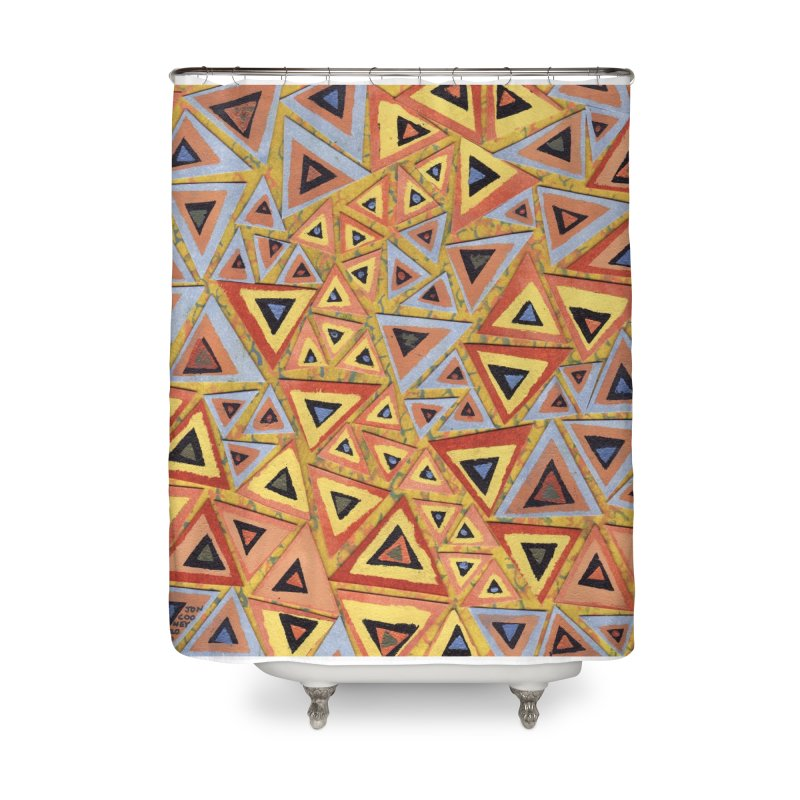 Translating New Perspective Home Shower Curtain by jon cooney's print shop