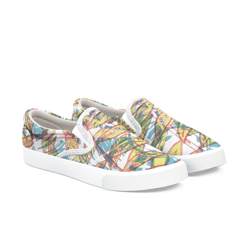 Transcend Women's Slip-On Shoes by jon cooney's print shop